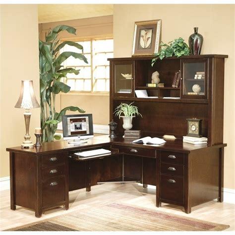executive desk with hutch martin furniture l shaped executive desk with hutch in