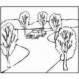 Coloring Pages Arabic Printable Road Turning طريق sketch template