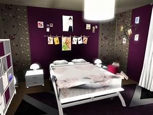 Papier Peint Ado Fille : chambre d 39 ados fille recherche google maison ~ Dailycaller-alerts.com Idées de Décoration