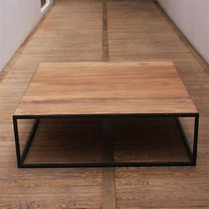 Table Basse Industrielle Carrée : table basse industrielle carr e mobilier design d coration d 39 int rieur ~ Teatrodelosmanantiales.com Idées de Décoration