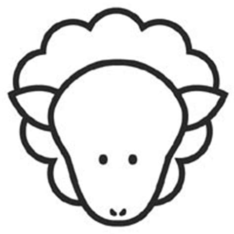 Sheep Face Coloring Pages Surfnetkids