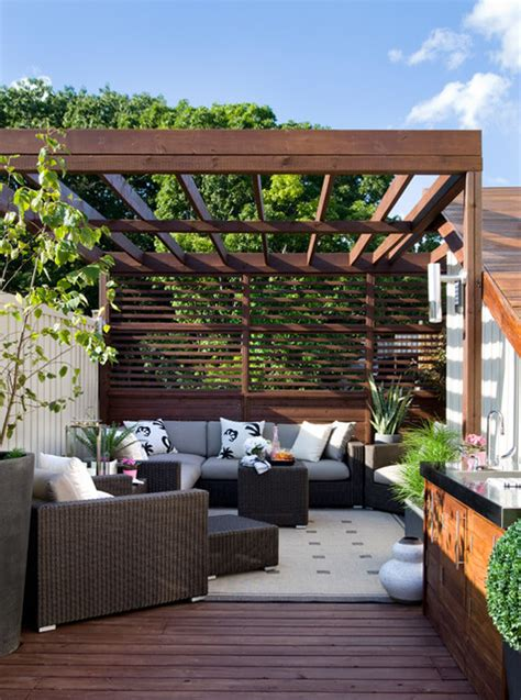 rooftop after contemporary patio