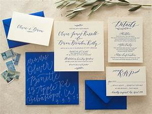 beautiful cobalt blue wedding invitations ideas styles With studio 7 wedding invitations