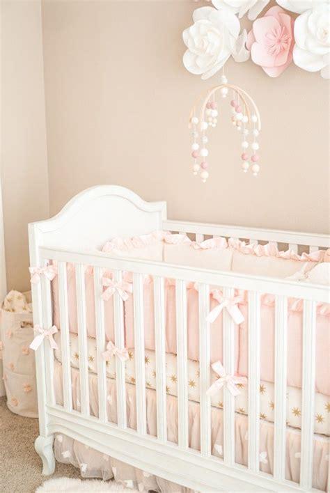 Pottery Barn Crib and Pink + Ivory decor... | Pottery barn ...