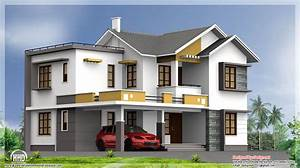 2400 sq.feet double floor Indian house plan