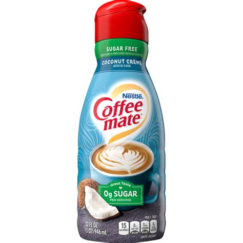 1/2 tsp hazelnut extract, more or less to taste. Coffee Mate Coffee Creamer, Sugar Free, Coconut Creme   Dairy   Food Fair Markets