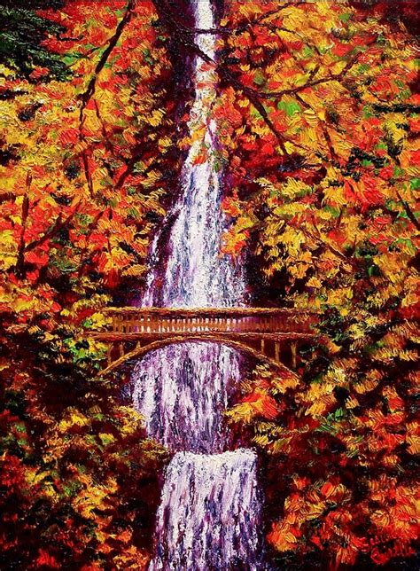 autumn  multnomah falls  sesillie redbubble