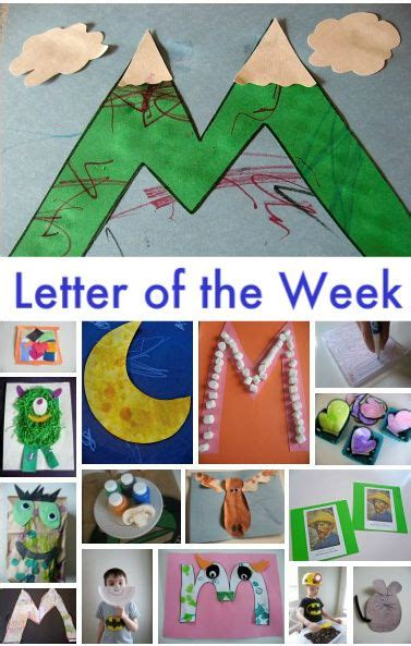 letter of the week m theme preschool crafts letter 411 | c235afda91dbfe333ff2bde31da44216