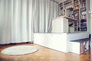 Bett Unter Podest : die besten 25 ein bett verstecken ideen auf pinterest bett in einem kasten klappbett und ~ Eleganceandgraceweddings.com Haus und Dekorationen