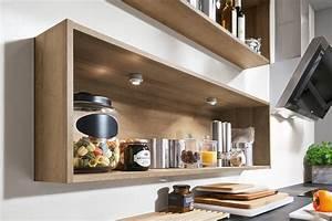 Kleines Regal Küche : moderne einbauk che norina 2371 eiche ontario grifflos k chenquelle ~ Markanthonyermac.com Haus und Dekorationen