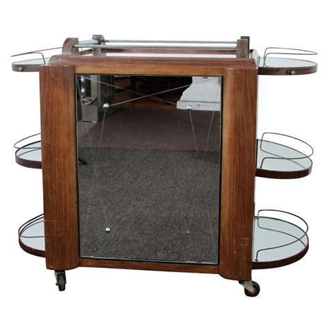 bar cart with doors vintage deco bar cart with mirrored revolving cabinet 4306