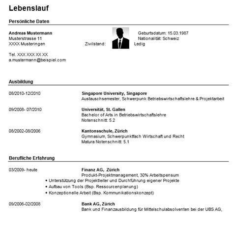Lebenslauf Vorlage Student by Lebenslauf Student Word Dokument Blogs