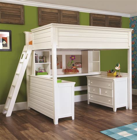 Lea Industries Willow Run Twin Lofted Bed with Desk ...