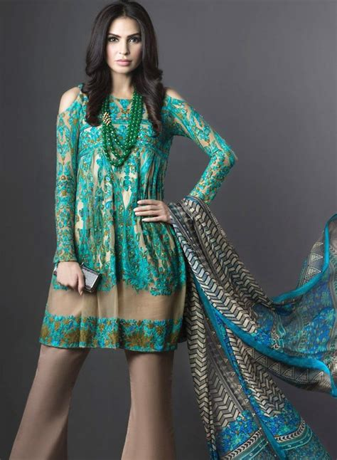New Off The Shoulder Dresses Fashion In Pakistan 2017   BestStylo.com