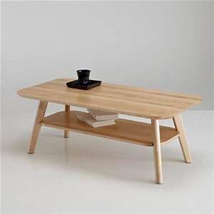 Table Bois La Redoute : table basse 2 plateaux bouleau massif jimi la redoute interieurs bois clair naturel ~ Melissatoandfro.com Idées de Décoration