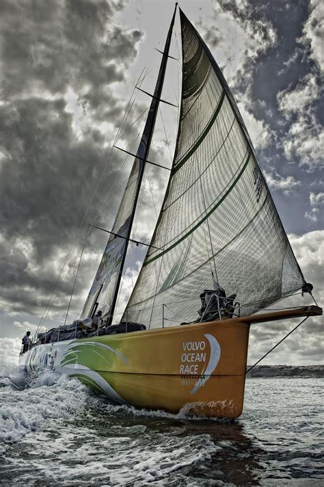 competitive volvo ocean race fleet geared