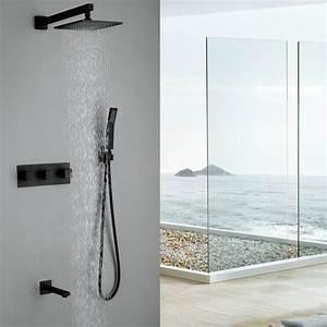 robinet de douche avec douchette en cuivre noir pour salle With porte d entrée pvc avec robinet salle de bain retro