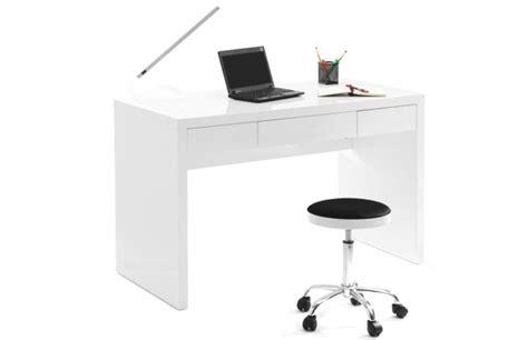 bureau laque blanc brillant bureaux miliboo bureau design blanc laqu 233 lacy ventes pas cher
