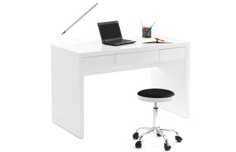 bureau blanc pas cher bureaux miliboo bureau design blanc laqué lacy ventes