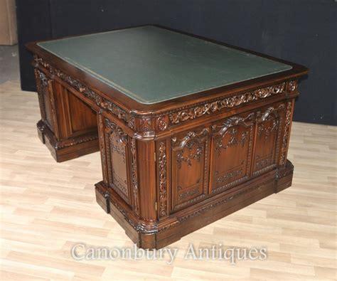 mahogany presidents desk resolute partners desk ebay
