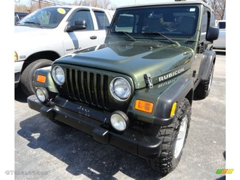 jeep metallic 2006 jeep green metallic jeep wrangler rubicon 4x4