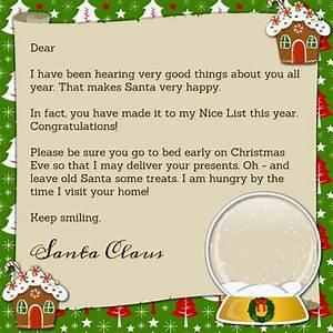 Printable santa claus letter printables pinterest santa for Nice list santa letter