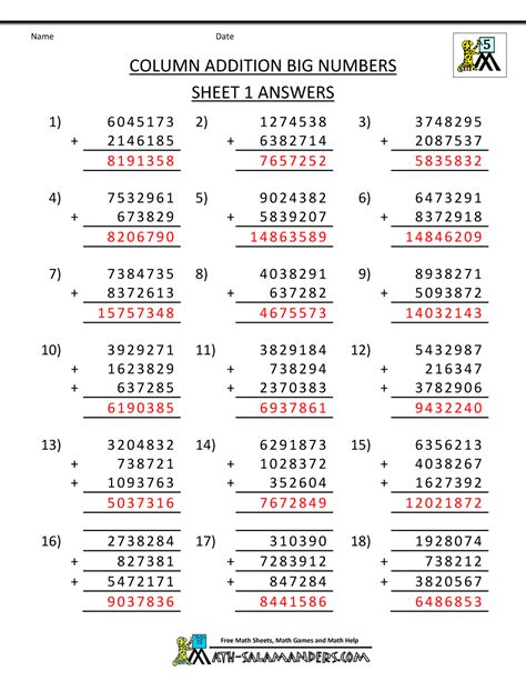 subtracting whole numbers 4th grade worksheets