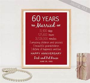 60th anniversary gift 60 years wedding anniversary for 60 wedding anniversary gift