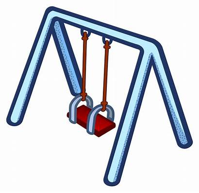 Swing Clipart Swings Playground Transparent Coloured Cliparts
