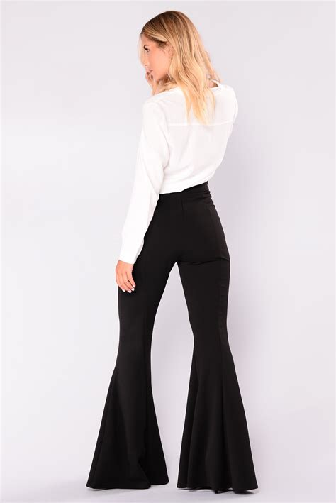 letty flare pants black