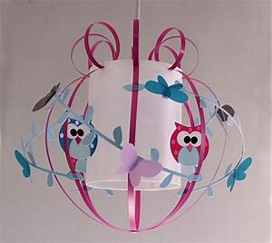 Suspension Chambre Enfant : suspension chambre mixte hiboux bleus et fuchsia ~ Melissatoandfro.com Idées de Décoration
