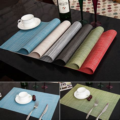 Dining Table Place Mats - 4pcs drying placemats insulation mats table coasters