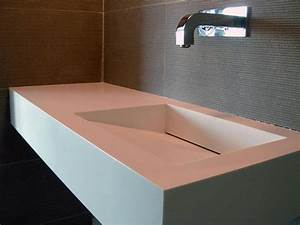 vasque salle de bain corian carrelage salle de bain With salle de bain design avec vasque en corian