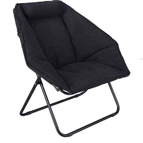 folding saucer chair black folding saucer moon hexagon chair cozy seat for tv