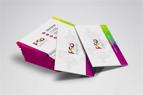 Colorful Corporate Business Flyer Template Psd File Free Colorful Business Card Free Psd Graphics Psd