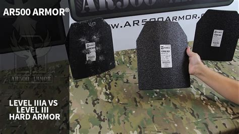 Ar500 Armor Level Iiia Vs. Iii Hard Body Armor