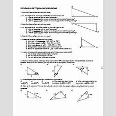 Introduction To Trigonometry Worksheet  With Answer Key (editable