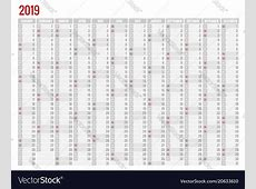 Calendar planner for 2019 year stationery Vector Image