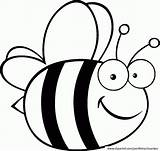 Bee Coloring Bumble Template Printable Popular sketch template
