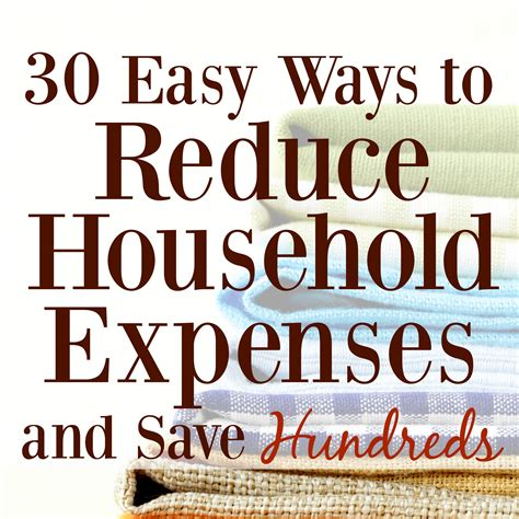 30 Easy Ways To Reduce Household Expenses And Save