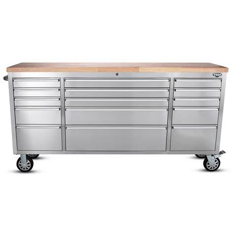 husky    drawer mobile workbench  stainless steel