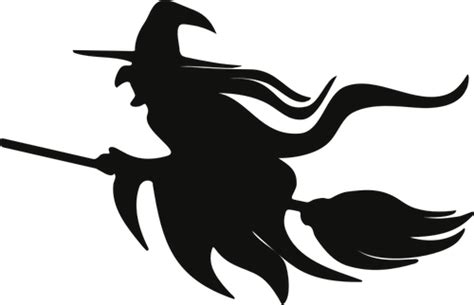 witch  broomstick silhouette witch silhouette