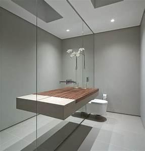 Bilder Bäder Einrichten : spiegelw nde lassen das kleine bad gr er wirken waschbeckentisch schwebend b der pinterest ~ Sanjose-hotels-ca.com Haus und Dekorationen
