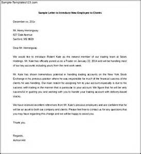 new letter of introduction introduction letter to clients for new employee free sle templates