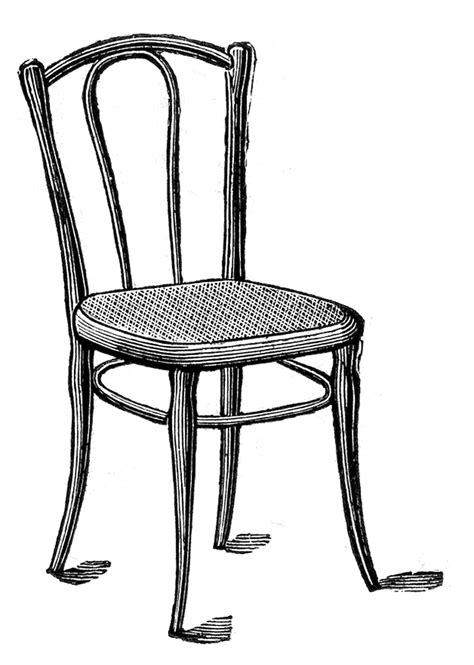 dessin chaise chair clipart black and white clipart panda free