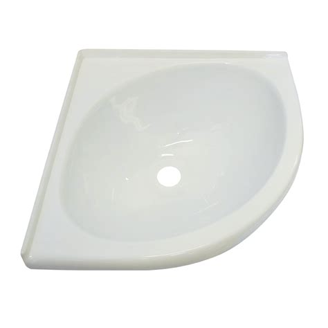 white acrylic corner sink bowl coast  coast rv