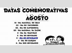 datas comemorativas AGOSTO2012