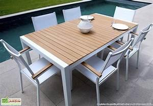 Table De Jardin En Bois Pas Cher : table de jardin alu truffaut ~ Teatrodelosmanantiales.com Idées de Décoration