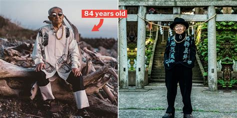 Japanese Grandpa Models Grandsons Hypebeast Clothes Gets