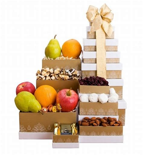 christmas gifts for business associates golden fruit and snack tower gifts arttowngifts